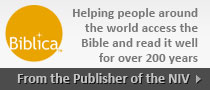 Buy NIV Bibles direct from Biblica and help us do Ministry globally.